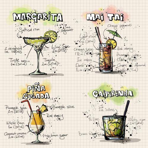 cocktails beverages alcohol