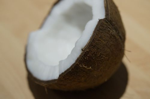coconut half coconut half