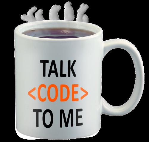 code geek talk code to me coffee cup