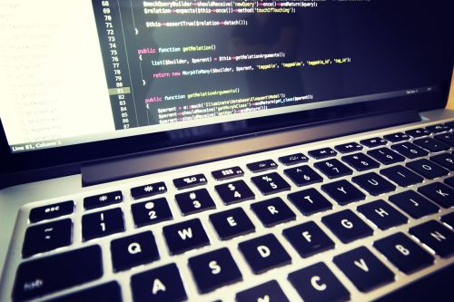 coding macbook laptop