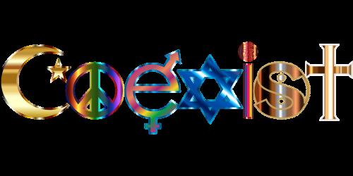 coexist islam peace symbol