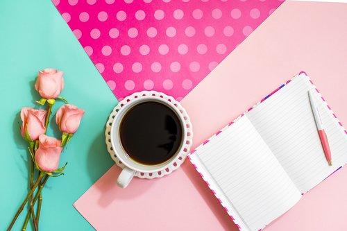 coffe  book  flower