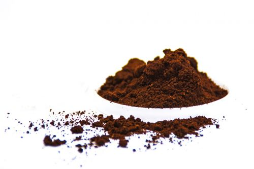 coffee powder white background