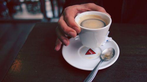 coffee cup hand