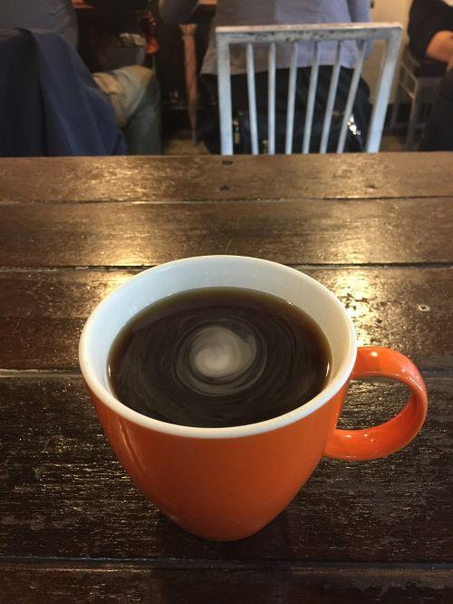 coffee container rotate orange
