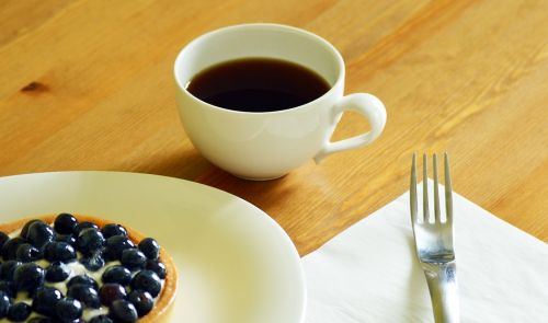 coffee blueberry torte