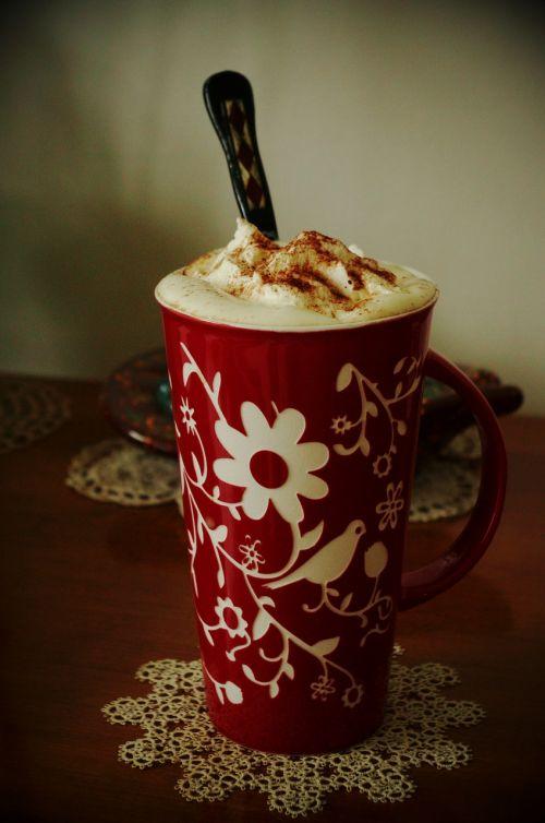 coffee floral tatting