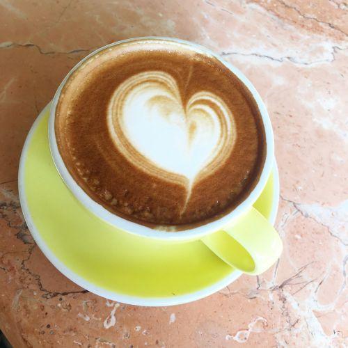 coffee latte latte art heart