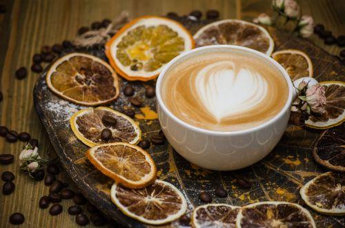kava,pienas,kavos,skirtos citrusiniams patiekalams