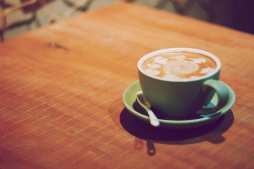 coffee literature and art background
