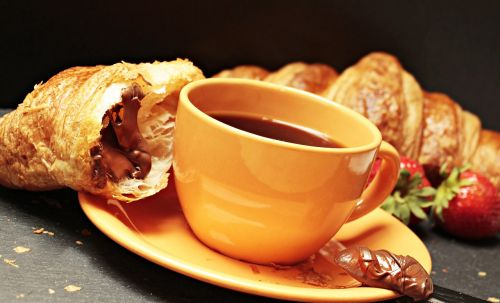 coffee croissant coffee cup