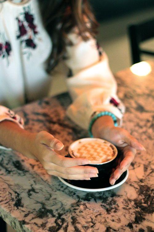coffee hands woman