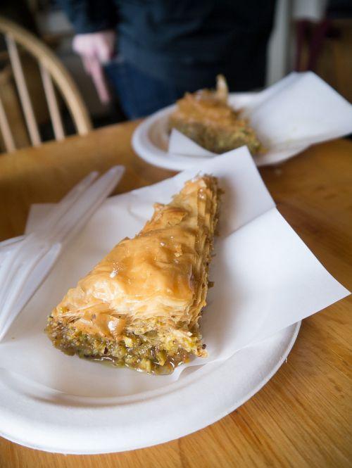 coffee baklava dessert
