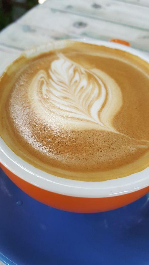 coffee blue orange