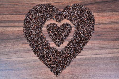 coffee heart coffee beans