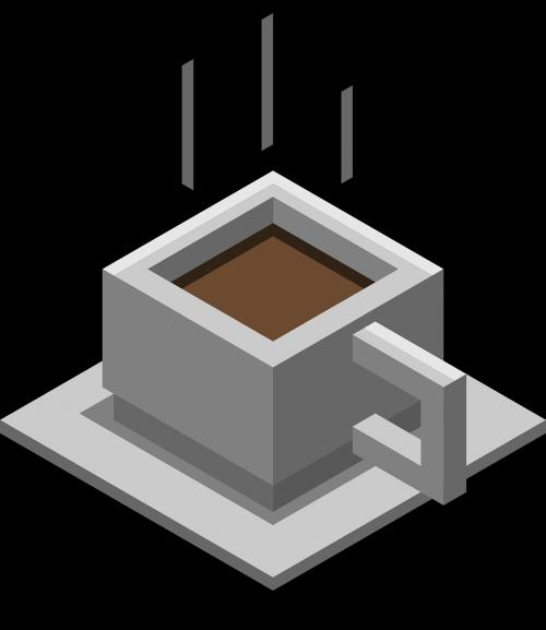 coffee isometric cafe