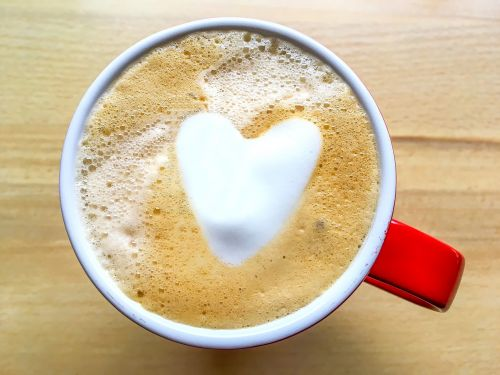 coffee drink heart