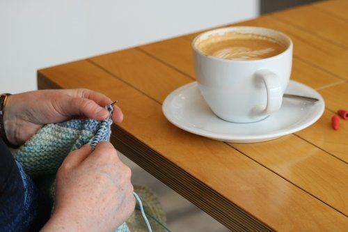 coffee  knitting  wool