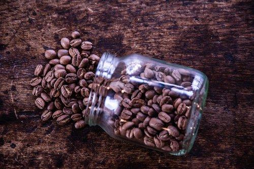 coffee  coffee grains  cup