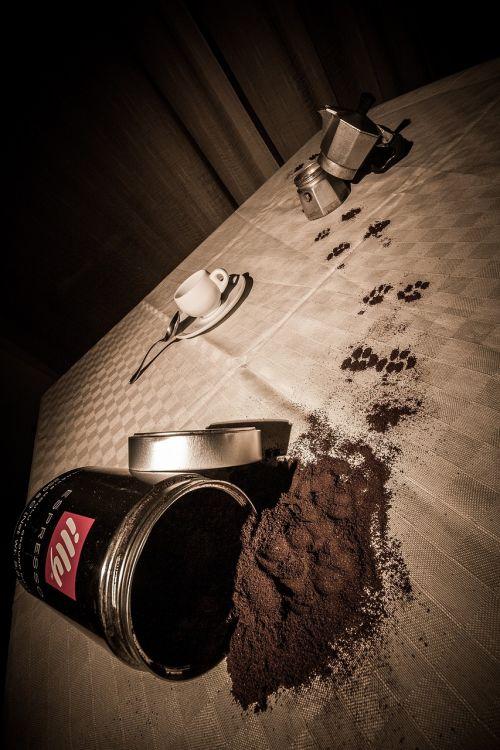 coffee fingerprint breakfast