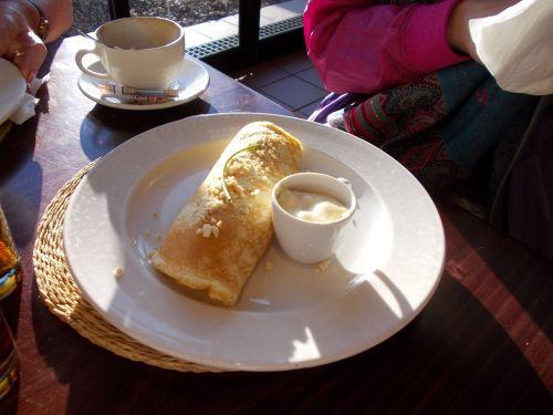 coffee pancake eat