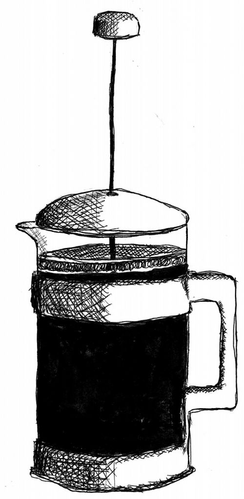 coffee drawing plunger