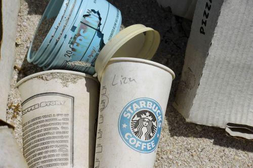 coffee starbucks trash