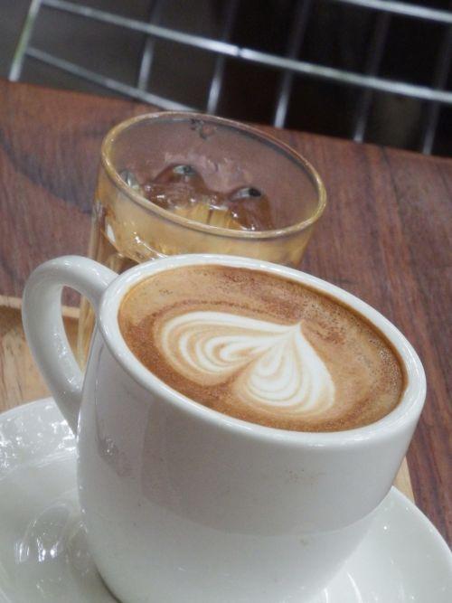 Coffee And Iced Tea With Heart Art