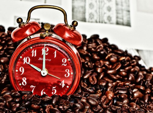 coffee break  break  alarm clock