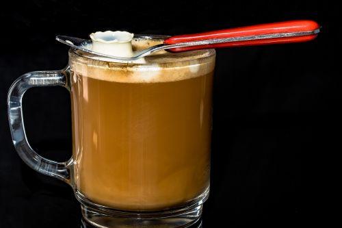 coffee cup café au lait coffee foam