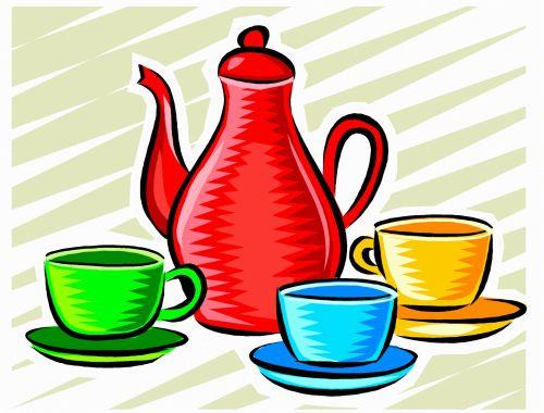 Coffee Pot & Cups