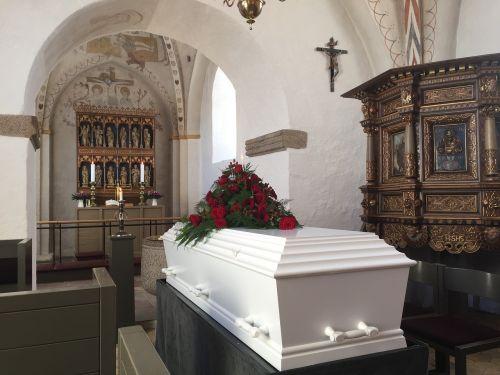 coffin funeral church