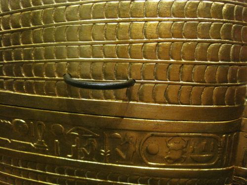 Coffin With Golden Handle