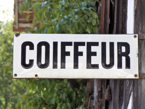 coiffeur sign board
