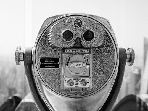 coin operated binoculars tower viewer