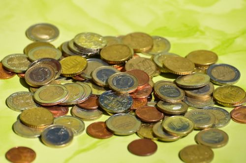 coins currency euro