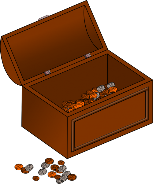 coins chest pirate