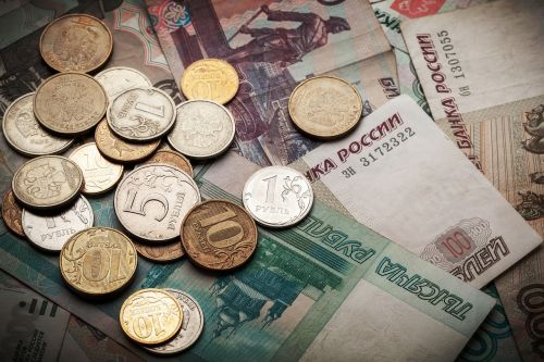 coins ruble russia