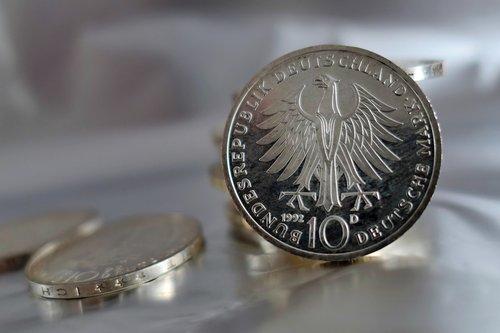 coins  german mark  mark