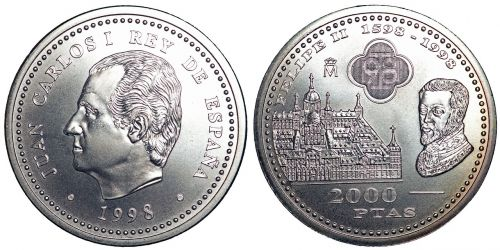 coins currency pesetas