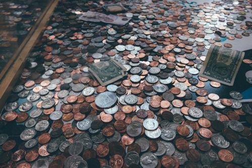 coins pennies dollars