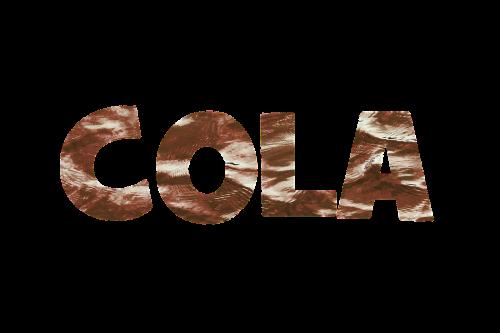 cola lettering texture