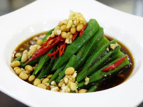 cold dish lady's finger beans