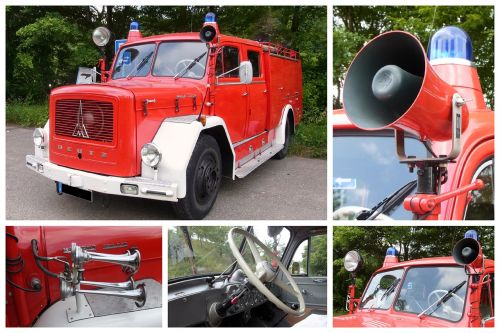 collage fire fire truck
