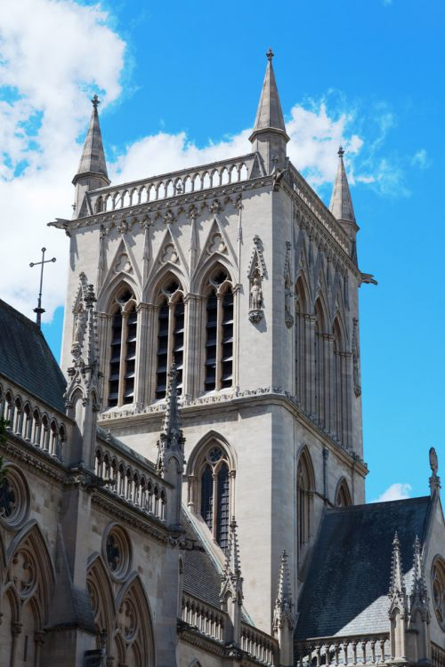 College Tower In Cambridge