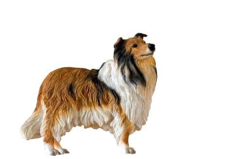 Collie Dog Figurine