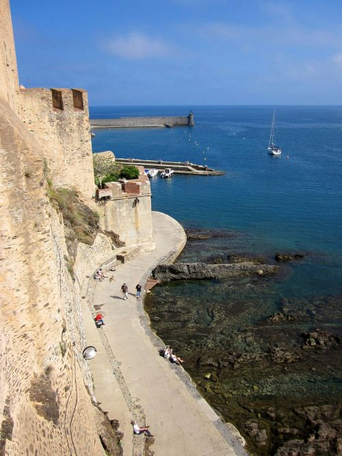 collioure fort mediterranean