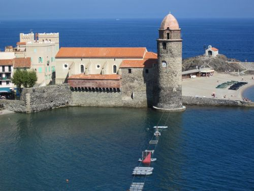 collioure mediterranean tower