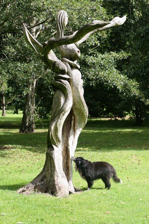 colly dog sculpture