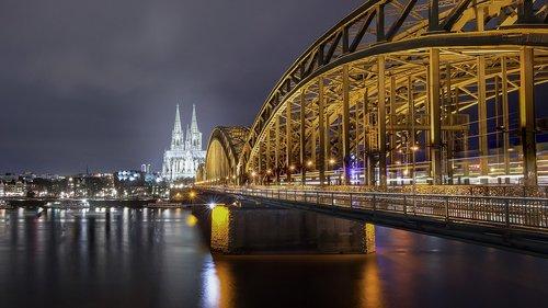 cologne  rhine  hohenzollern bridge